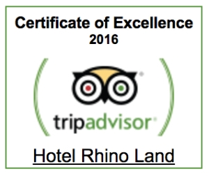 trip advisor certificate of excellence 2016 - hotel rhino land