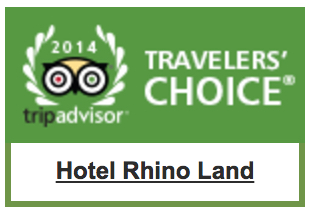 Trip Advisor Travelers' Choice Hotel Rhino Land